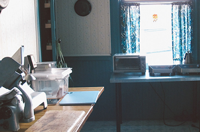 kitchen design, commercial kitchen, meat slicer, induction burner, toaster oven, sous vide, immersion circulator, polyscience, progress, home