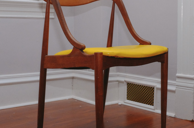 mid century, johannes andersen, mcm, side chair, dining chair, reupholstery