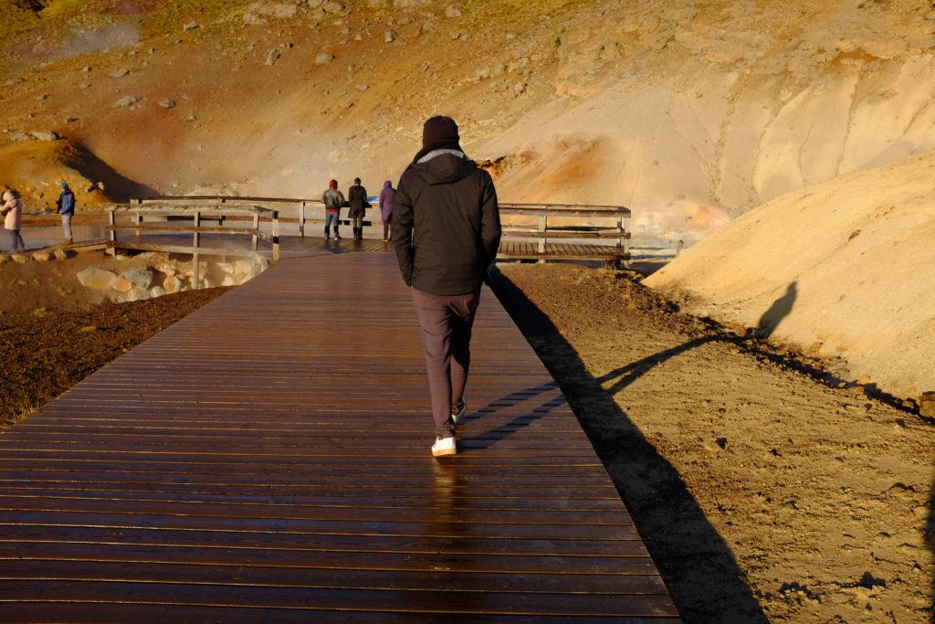 Ed Sightseeing at hotsprings outside of Rekjavik Iceland