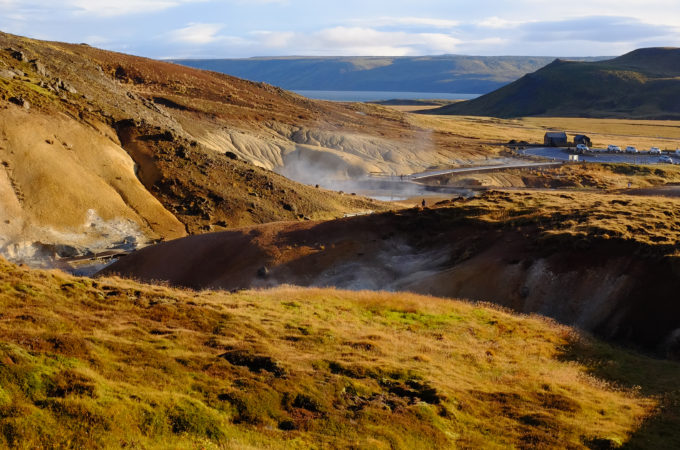 Sunny Reykjavik Iceland Hot Springs