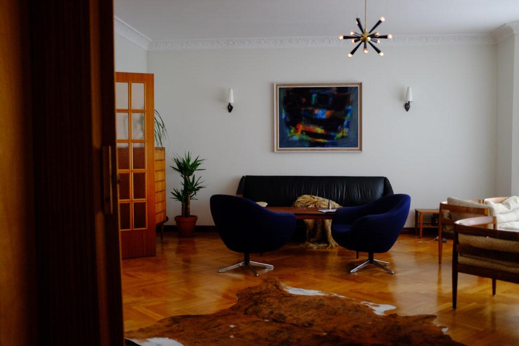 Midcentury Modern Living Room Airbnb Reykjavik Iceland