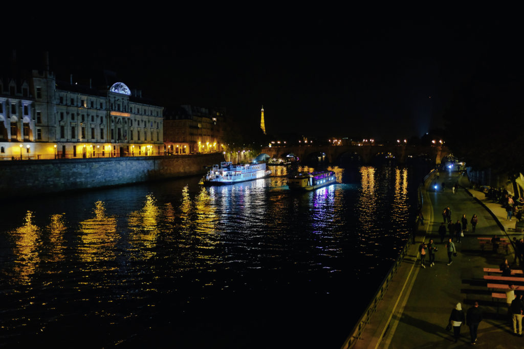 paris in the fall seine lights