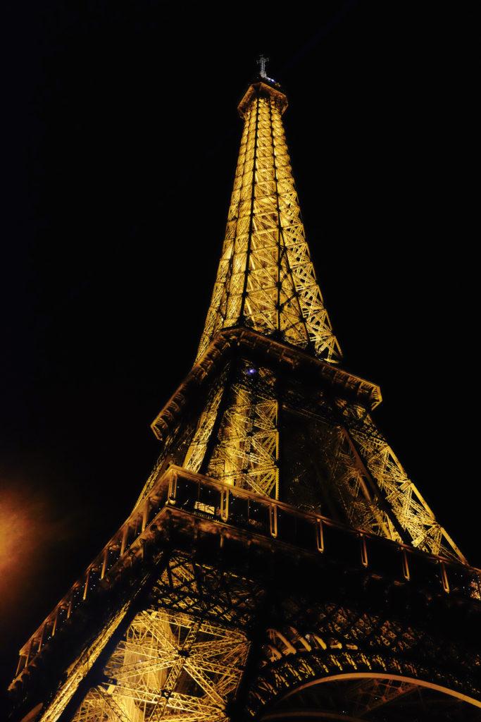 Eiffeel Tower Night Paris France
