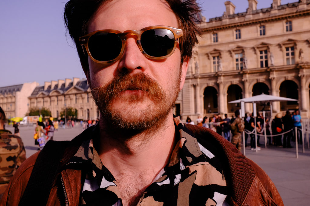Ed outside the Musee Louvre