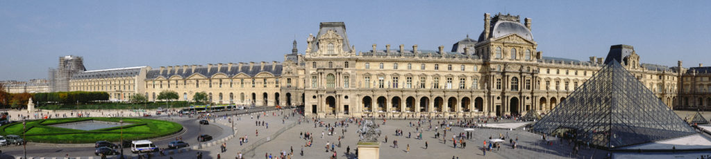 Musee Louvre Panorama Paris France