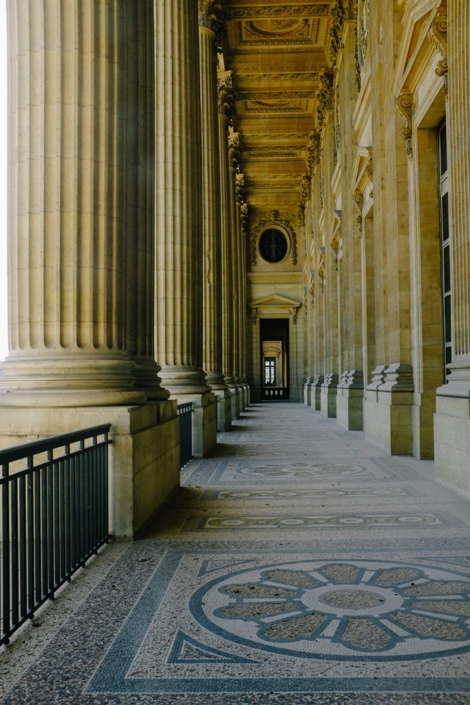 the louvre walkway architecture paris