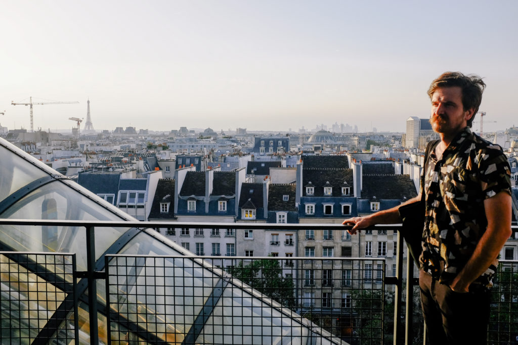 Ed on the top floor of Centre Pompidou Paris
