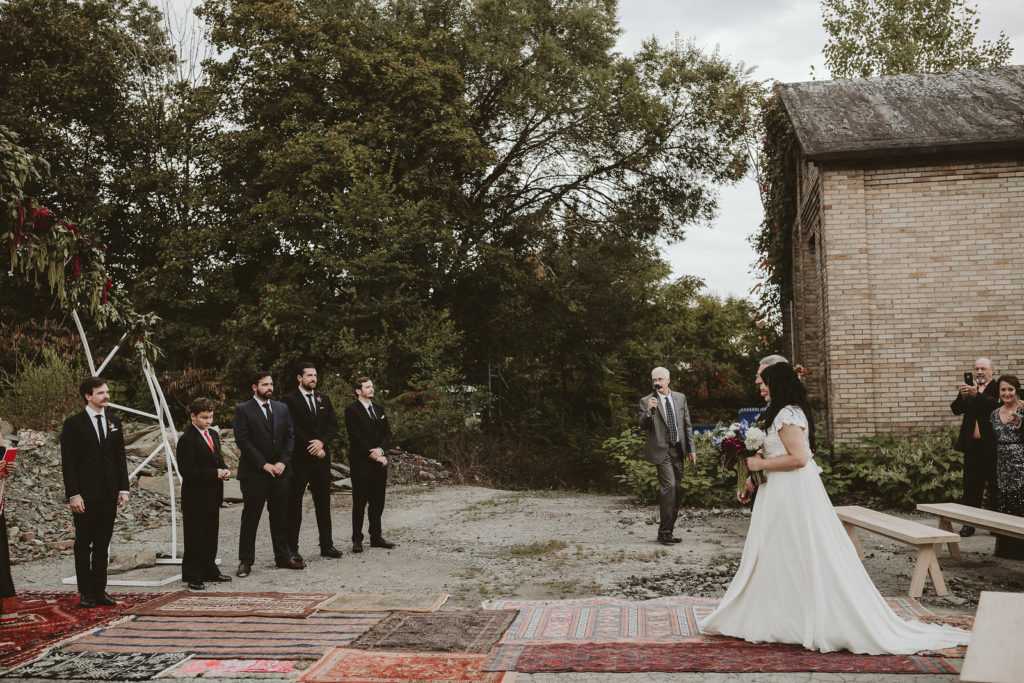 fall wedding oxblood dahlias bohemian